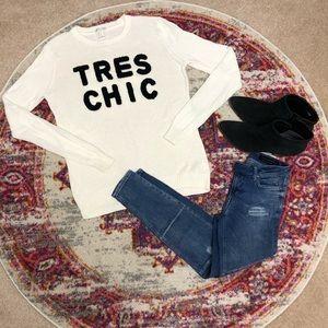 "F21 ""TRES CHIC"" Sweater SZ M"